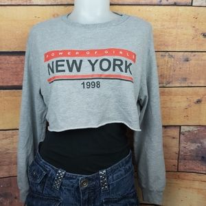 H & M Divided crop top sweater size small